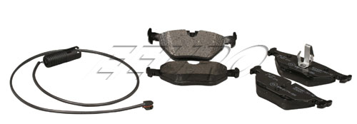 Disc Brake Pad Set - Rear (w/ Sensor) - Genuine BMW 34212157620