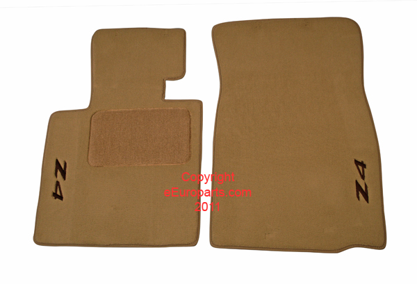 Auto Sale On Floor Mat Set Beige With Embroidered Z4 Logo
