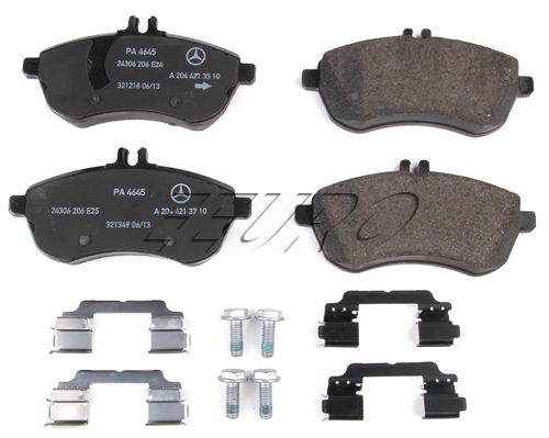 Disc Brake Pad Set - Front - Genuine Mercedes 0074209220  Front brake pads set for Mercedes 12-13 SLK 250 WITHOUT AMG Package Sport Package or Launch Edition