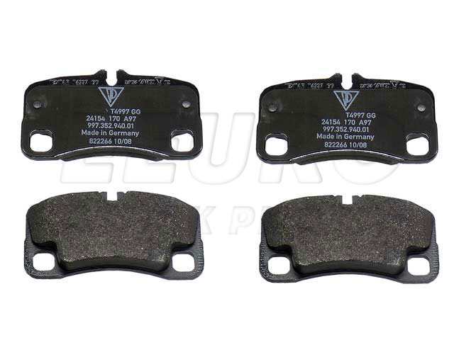 Disc Brake Pad Set - Rear - Genuine Porsche 99735294905