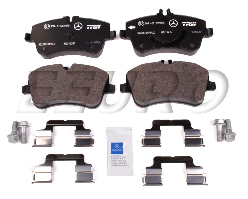 Disc Brake Pad Set - Front (w/o Sport Package) - Genuine Mercedes 005420622010  Disc Brake Pad Set - Front (w/o Sport Package)