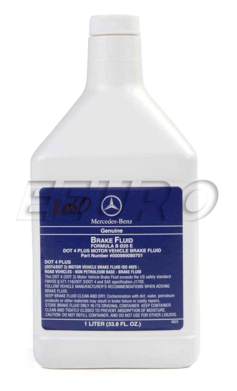 000989080701 genuine mercedes brake fluid dot 4 plus. Black Bedroom Furniture Sets. Home Design Ideas