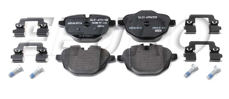 Disc Brake Pad Set - Rear - Genuine BMW 34216796741