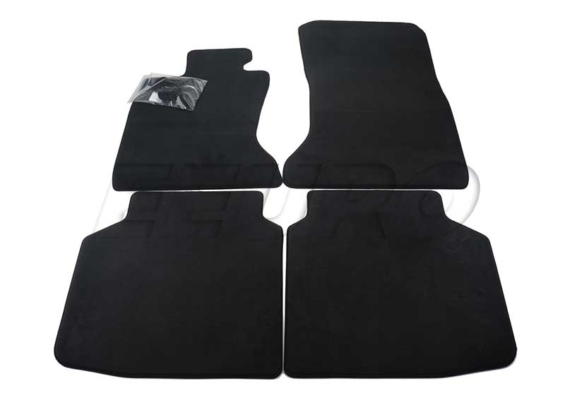 Floor Mat Set - Front and Rear (Black) - Genuine BMW 51477337692 51477337692