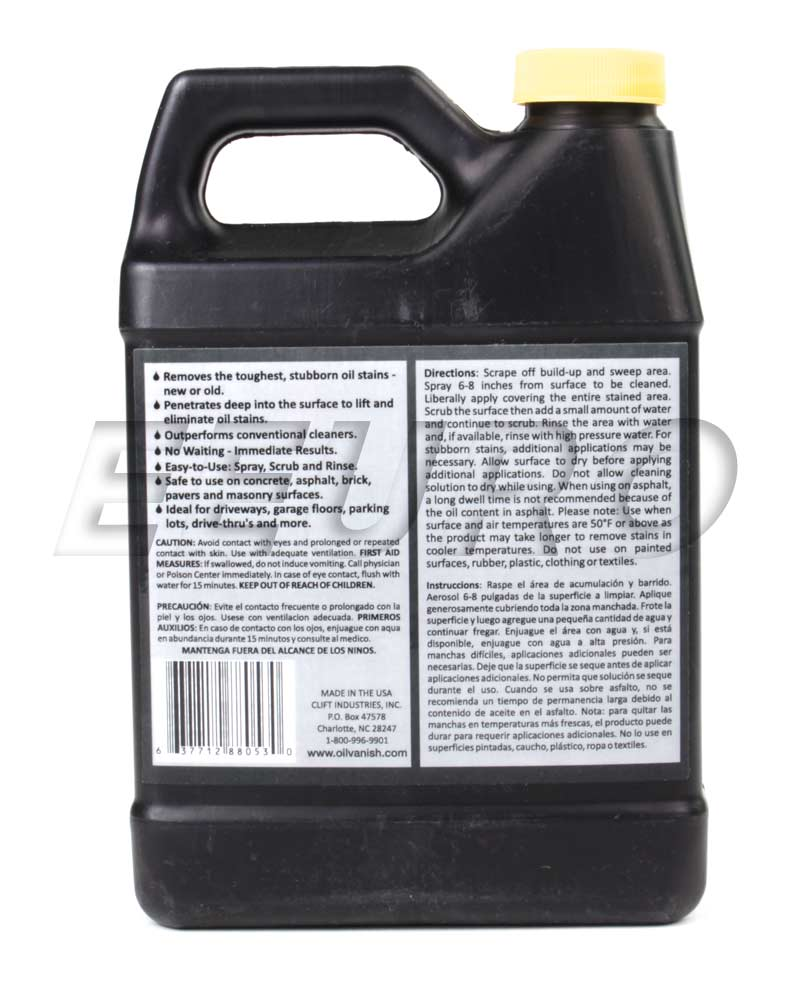 Oil stain remover 32 oz oil vanish 8805032 free for Motor oil stain removal from concrete