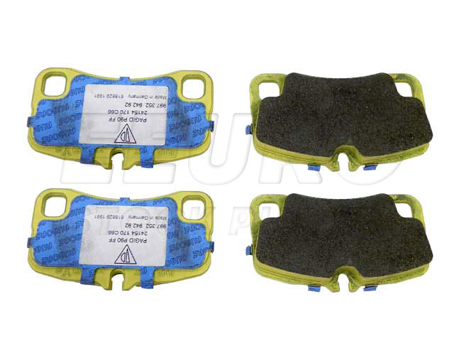 Disc Brake Pad Set - Rear - Genuine Porsche 99735294792  Disc Brake Pad Set - Rear