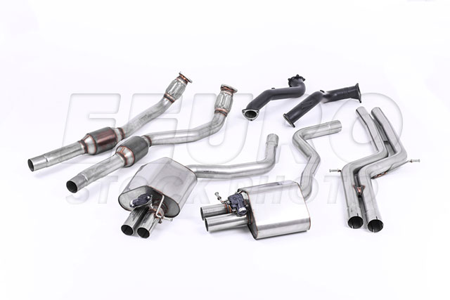 VW Exhaust System Kit (Turbo-Back) (w/ 3in Downpipe and 100 cell Hi-Flow Catalytic Converter) (Performance) (Non-Resonated) (Valvesonic) SSXAU595