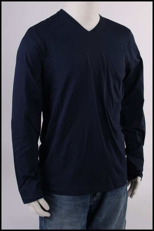 Long Sleeve BMW Tee (V Neck) (Blue) (XXXLarge) 80142298096 Main Image