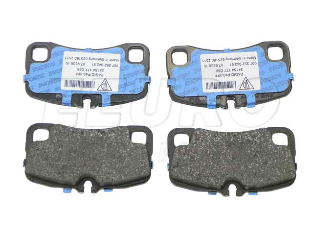 Disc Brake Pad Set - Rear - Genuine Porsche 99735294790