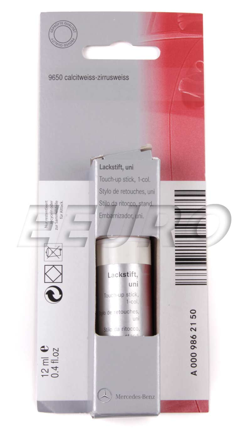 00198621509650 genuine mercedes touch up paint code for Mercedes benz touch up paint