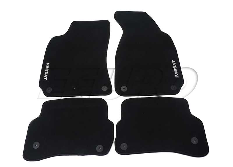 Floor Mat Set (Black) - Genuine VW 3B1061370WGK 3B1061370WGK