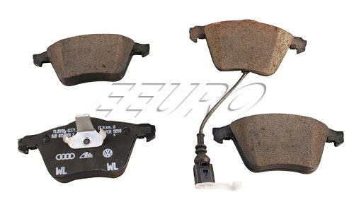 Disc Brake Pad Set - Front - Genuine Audi 8J0698151F  For listed vehicles with 340mm disc.