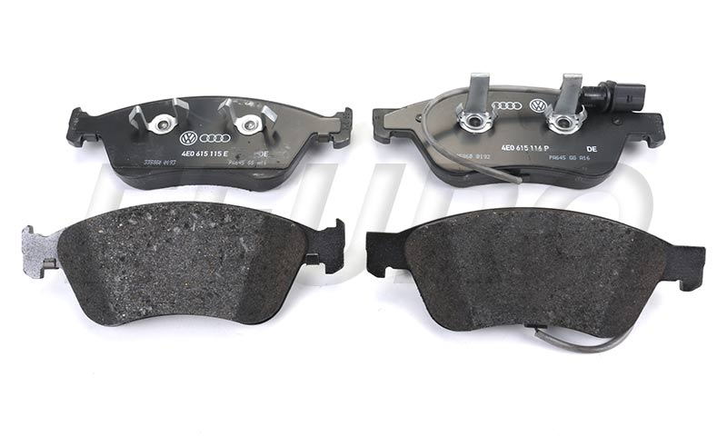 Disc Brake Pad Set - Front (w/ Wear Sensor) - Genuine VW 4E0698151K