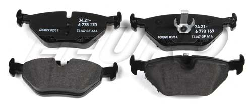 Disc Brake Pad Set - Rear - Genuine BMW 34216778168