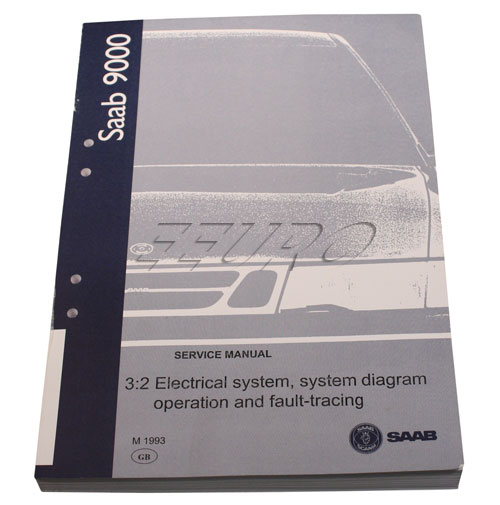 Genuine SAAB Service manual: Electrical system/operation & fault tracing 0346536 0346536