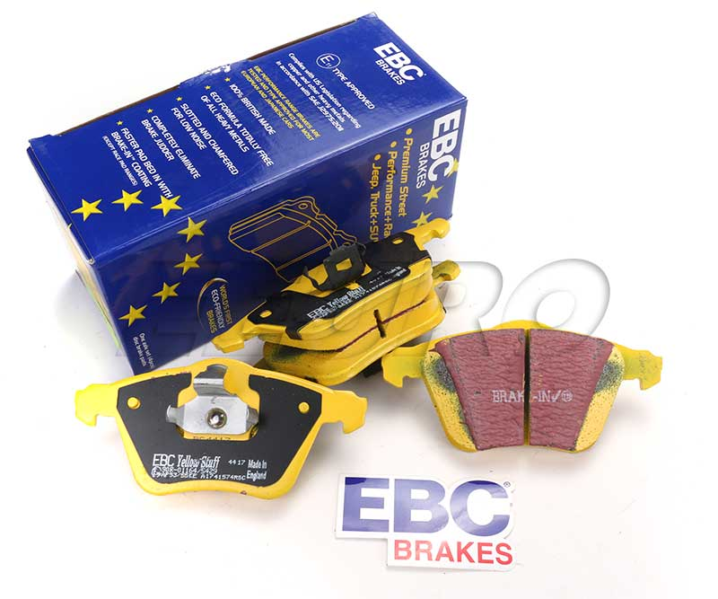Mercedes Disc Brake Pad Set - Rear - EBC YellowStuffs DP42137R