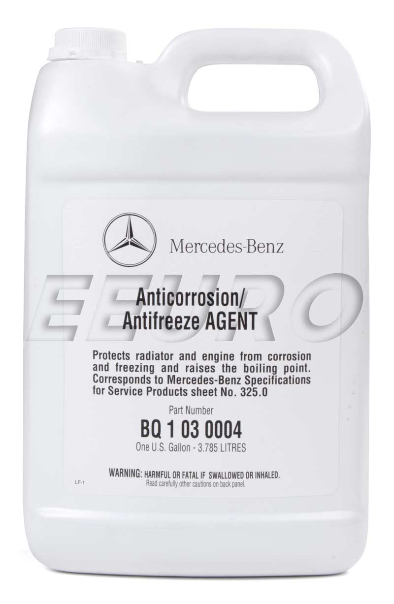 q1030004 genuine mercedes engine antifreeze coolant 1