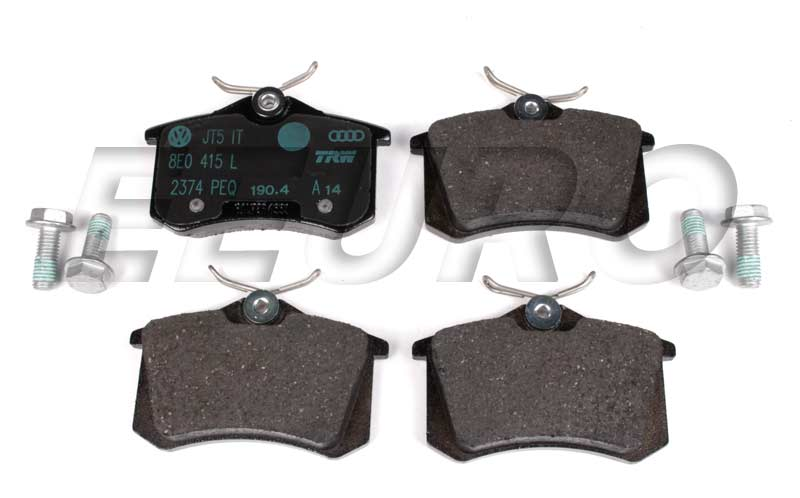 Disc Brake Pad Set - Rear - Genuine Audi 8E0698451L