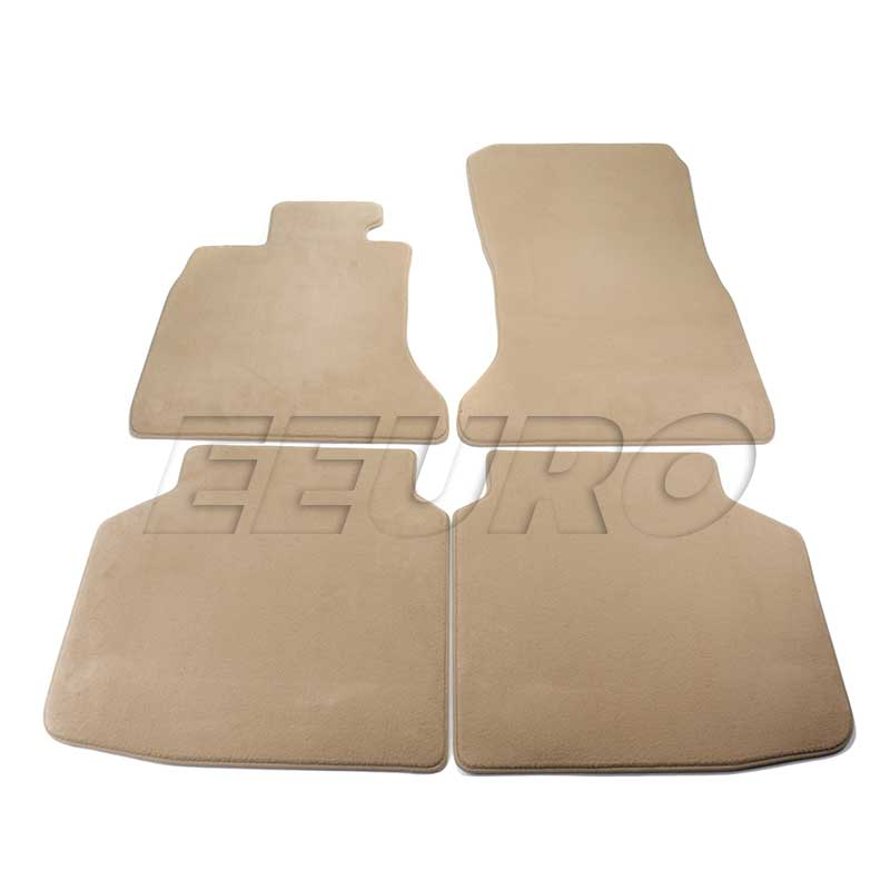 Floor Mat Set - Front and Rear (Beige) - Genuine BMW 51477337687 51477337687