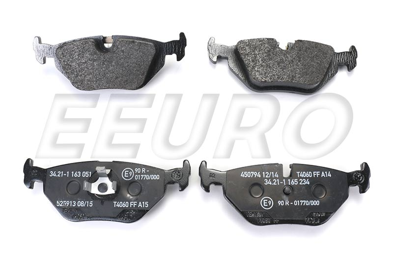 Disc Brake Pad Set - Rear - Genuine BMW 34216761238