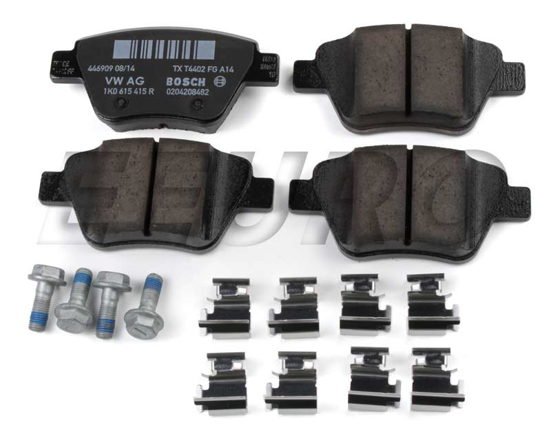 Disc Brake Pad Set - Rear (272mm) - Genuine VW 5K0698451C
