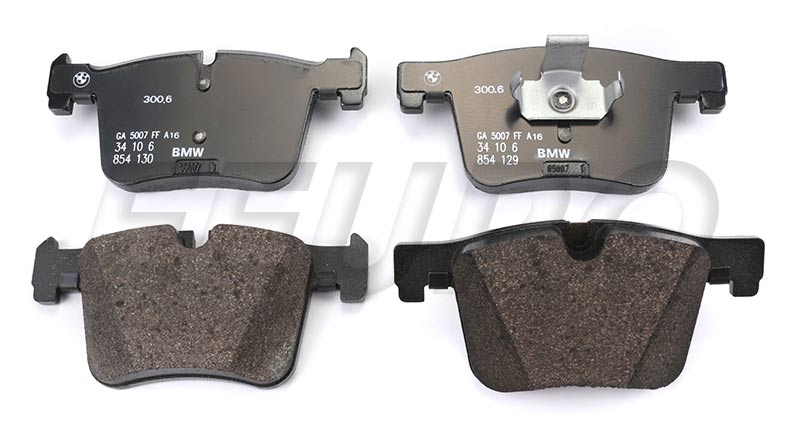 Disc Brake Pad Set - Front - Genuine BMW 34106859181