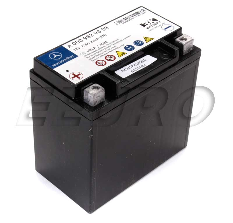 Genuine Mercedes Auxiliary Battery Sbc 0009829608 Free Shipping Available