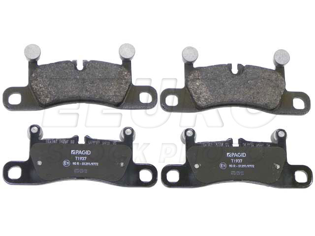 Disc Brake Pad Set - Rear - Genuine Porsche 95835293980