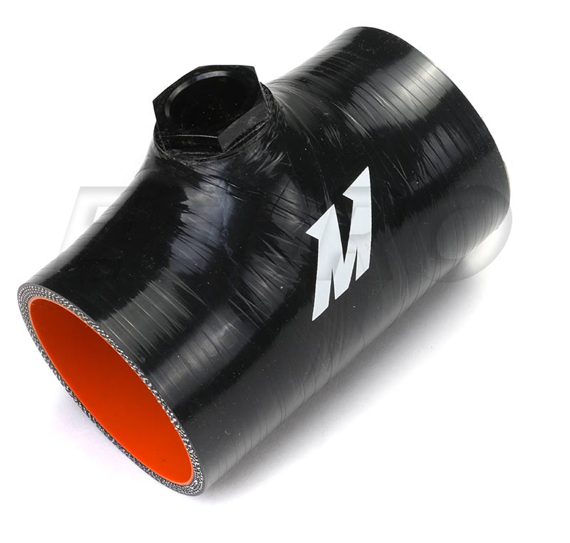 Hose Coupler (w/ 1/8in NPT Fitting) (Silicone) (2.5in) (Black) MMCP25NPTBK Main Image