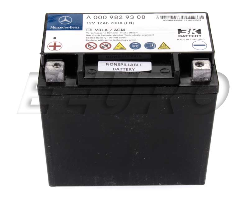 0009829608 Genuine Mercedes Auxiliary Battery Sbc Free Shipping Available