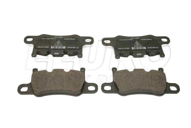 Disc Brake Pad Set - Rear - Genuine Porsche 99135294881