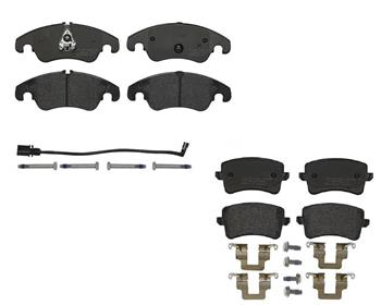 Brake Pad Set Kit - Front and Rear (Low-Met) 1592140KIT Main Image