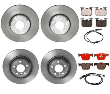Disc Brake Pad and Rotor Kit - Front and Rear (340mm/330mm) (Ceramic) 1640594KIT Main Image