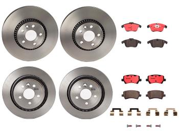 Disc Brake Pad and Rotor Kit - Front and Rear (316mm/302mm) (Ceramic) 1599190KIT Main Image