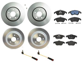Disc Brake Pad and Rotor Kit - Front and Rear (322mm/300mm) (Low-Met) 1630024KIT Main Image