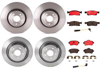 Disc Brake Pad and Rotor Kit - Front and Rear (330mm/325mm) (Ceramic) 1633218KIT Main Image
