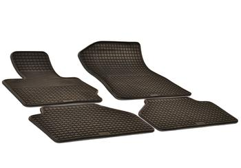 Floor Mat Set - Front and Rear (All-Weather) (Black) 217114FL Main Image