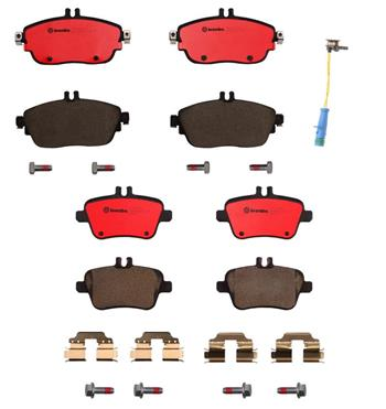 Brake Pad Set Kit - Front and Rear (Ceramic) 1558245KIT Main Image
