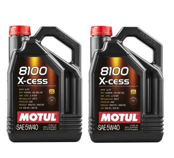 Engine Oil (5W40) (Set of 2) (10 Liter) (X-Cess 8100) 3739386KIT Main Image