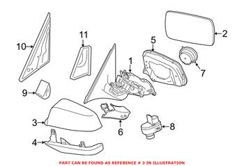 Side Mirror Cover - Front Driver Side Upper 51167308684 Main Image