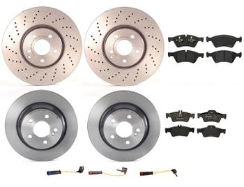 Disc Brake Pad and Rotor Kit - Front and Rear (330mm/300mm) (Low-Met) 2575407KIT Main Image
