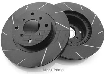 Disc Brake Rotor Set - Rear (300mm) (Black Coated) (Slotted) T28234BP Main Image
