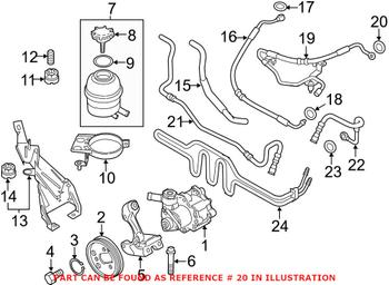 Power Steering Pressure Hose Sealing Ring (A14x18) 07119906464 Main Image