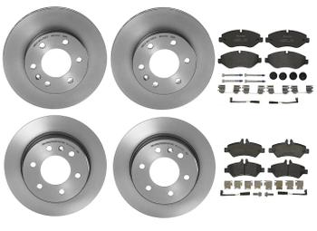 Disc Brake Pad and Rotor Kit - Front and Rear (300mm/298mm) (Low-Met) 1631267KIT Main Image