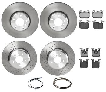 Disc Brake Pad and Rotor Kit - Front and Rear (340mm/345mm) (Low-Met) 3055095KIT Main Image