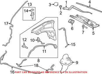 Windshield Wiper Blade - Front (20in) LR033029 Main Image