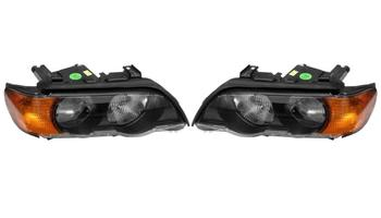 Headlight Set - Driver and Passenger Side (Halogen) (Amber Turn Signals) 2863274KIT Main Image