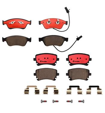 Brake Pad Set Kit - Front and Rear (Ceramic) 1555656KIT Main Image