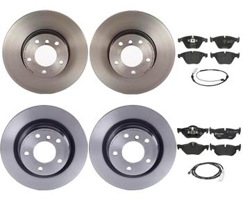 Disc Brake Pad and Rotor Kit - Front and Rear (312mm/300mm) (Low-Met) 2858102KIT Main Image