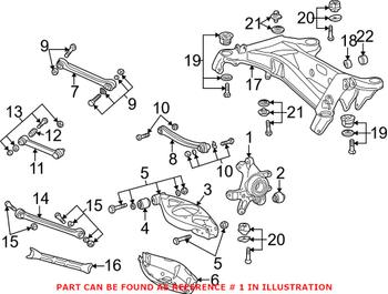 Suspension Knuckle - Rear Driver Side (w/ Wheel Bearing) 2023509408 Main Image